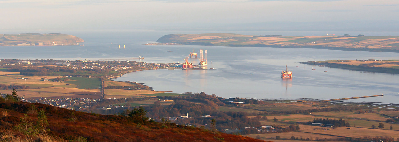 Invergordon and the Cromarty Firth from Fyrish